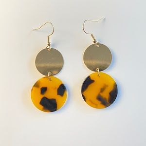 Tortoise & Gold Earrings